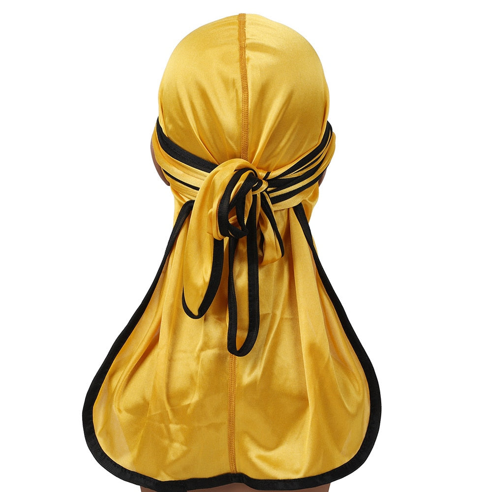 Gold Silk Durag w/ Black Lining - Taelor Boutique