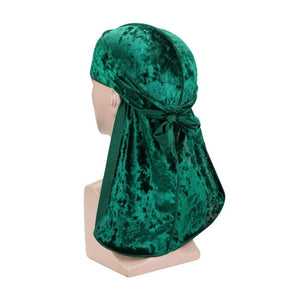 Green Luxury Velvet Durag