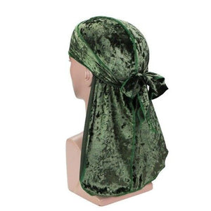 Army Green Luxury Velvet Durag