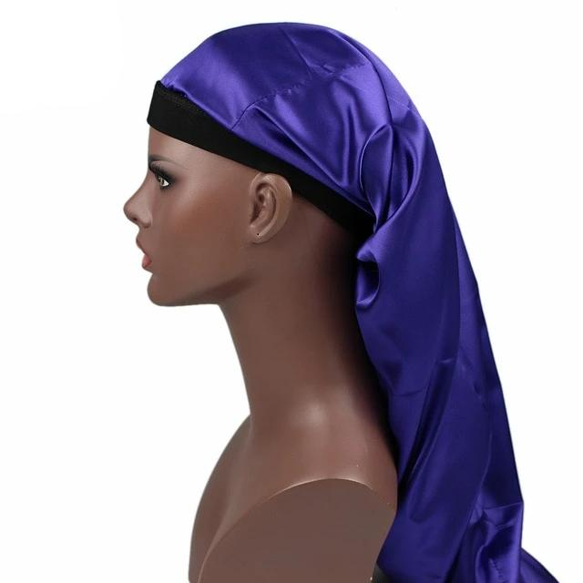 Purple Silky Dreadlocks Cap - Taelor Boutique