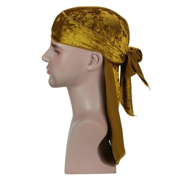 Gold Luxury Velvet Durag - Taelor Boutique