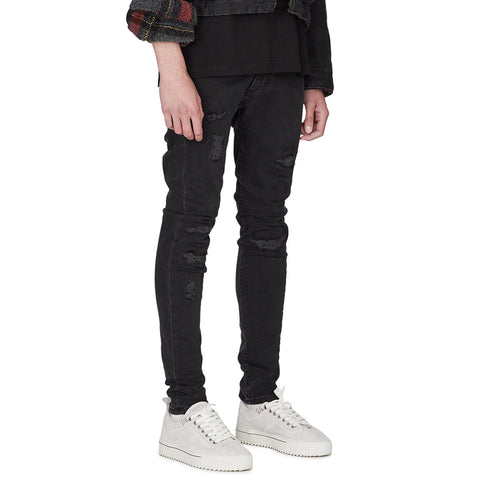 Black Rip And Repair Skinny Jeans - Taelor Boutique