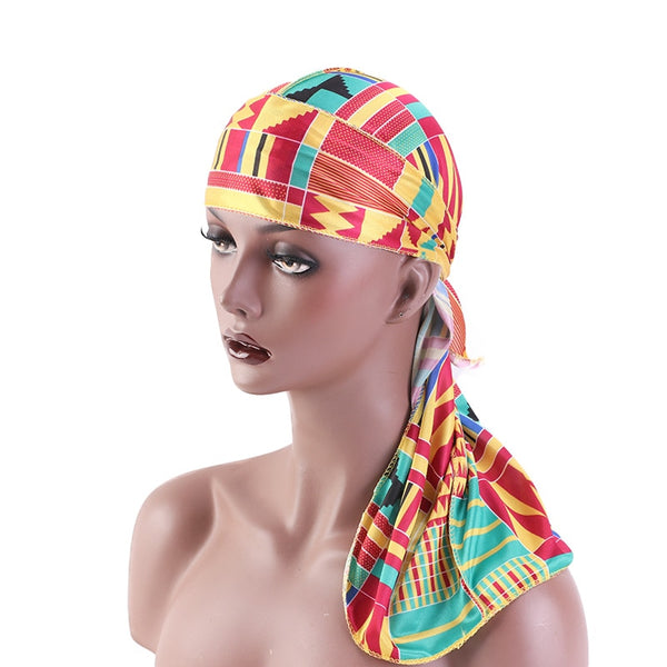 African Print #1 Silky Durag - Taelor Boutique