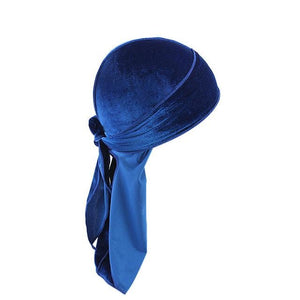 Royal Blue Velvet Durag - Taelor Boutique