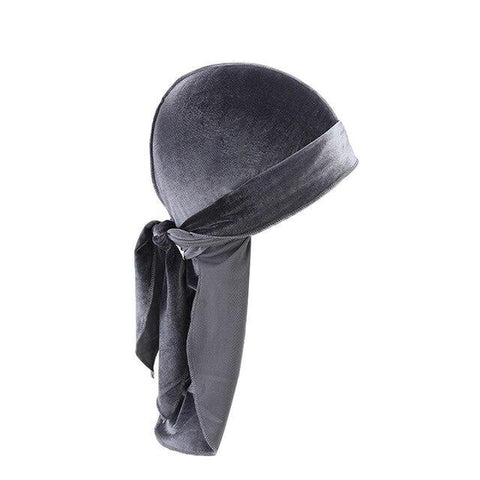 Grey Velvet Durag - Taelor Boutique