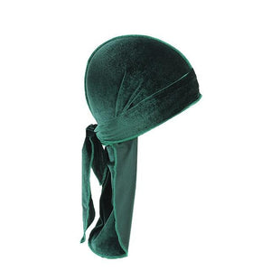 Green Velvet Durag - Taelor Boutique