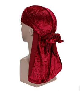 Red Luxury Velvet Durag - Taelor Boutique