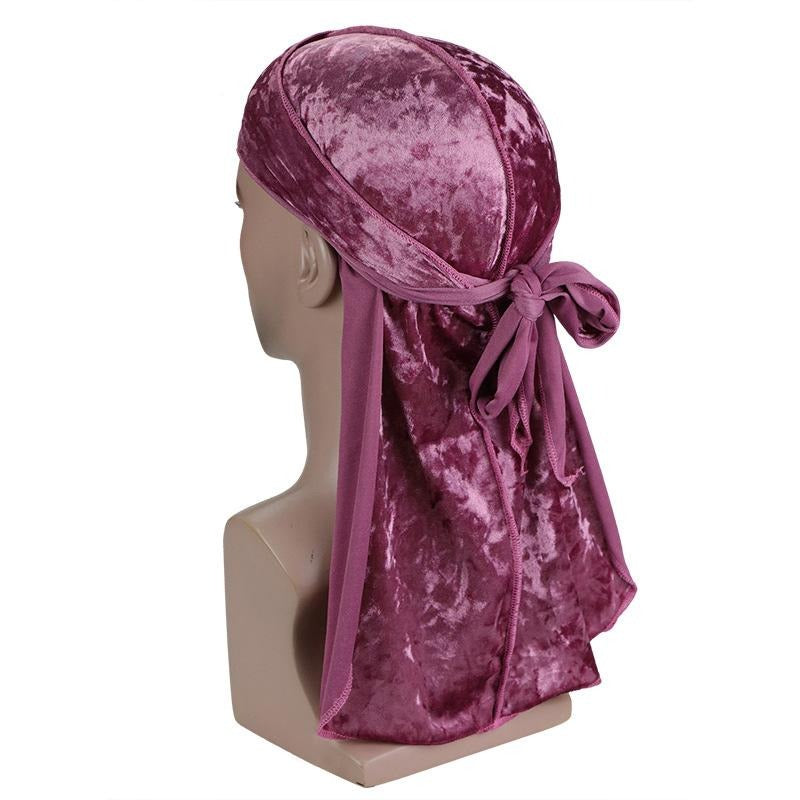 Pink Luxury Velvet Durag - Taelor Boutique