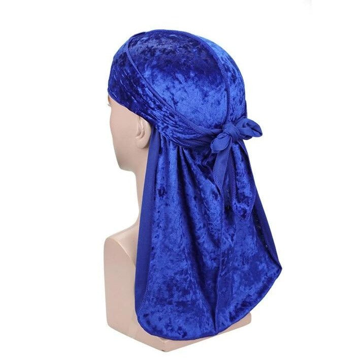 Blue Luxury Velvet Durag - Taelor Boutique