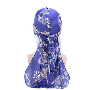 Royal Blue Chains Silky Durag - Taelor Boutique