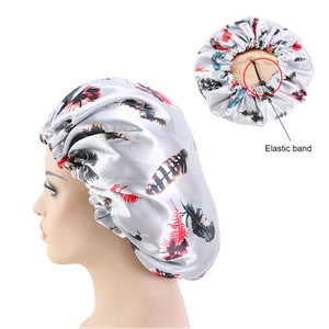 Reversible Grey Feather Silky Bonnet - Taelor Boutique
