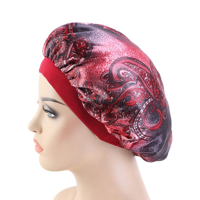 Silky Paisley #4 Bonnet - Taelor Boutique