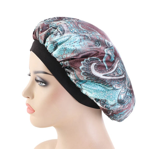Silky Paisley #3 Bonnet - Taelor Boutique