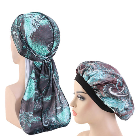 Silky Paisley #3 Durag & Bonnet Set - Taelor Boutique