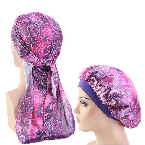 Silky Paisley #2 Durag & Bonnet Set - Taelor Boutique