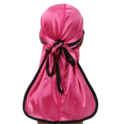 Pink Silk Durag w/ Black Lining - Taelor Boutique