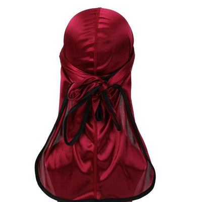 Wine Red Silk Durag w/ Black Lining - Taelor Boutique