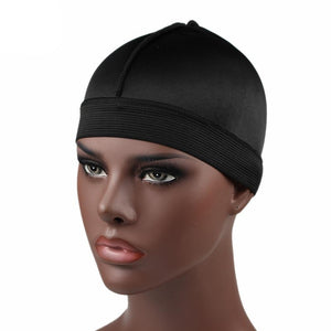 Black Silky Wave Cap - Taelor Boutique