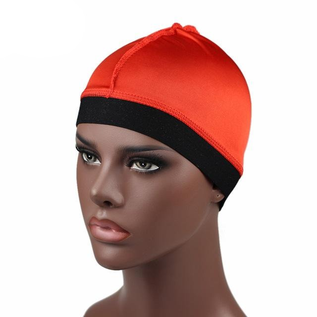 Red Silky Wave Cap - Taelor Boutique