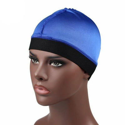 Blue Silky Wave Cap - Taelor Boutique