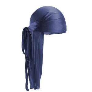 Navy Blue Silk Durag
