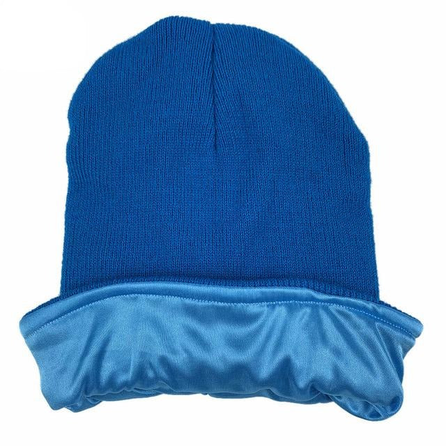 Sky Blue Satin Lined Beanie - Taelor Boutique