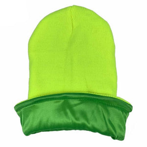 Light Green Satin Lined Beanie - Taelor Boutique
