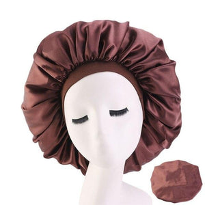 Coffee Brown Extra Large Wide Band Bonnet