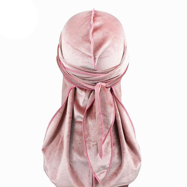 Pink Luxury Shiny Velvet Durag - Taelor Boutique