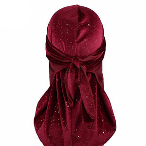 Burgundy Luxury Shiny Velvet Durag - Taelor Boutique