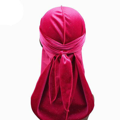 Rose Red Luxury Shiny Velvet Durag - Taelor Boutique