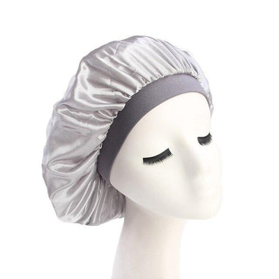 Silver Wide Band Silky Bonnet - Taelor Boutique