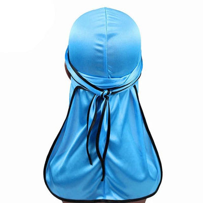 Blue Silk Durag w/ Black Lining - Taelor Boutique