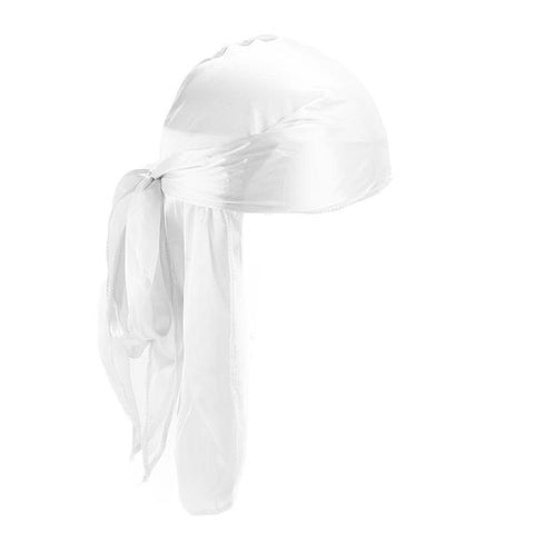 White Silk Durag - Taelor Boutique
