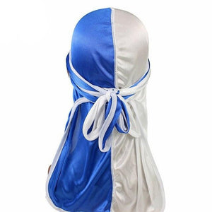Blue & White Two Tone Silky Durag