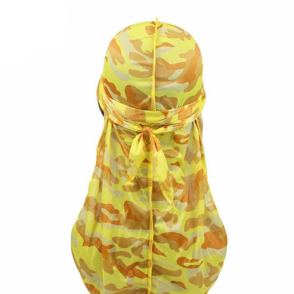Silk Yellow Camo Durag - Taelor Boutique
