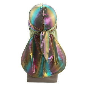 Multicolour #3 Shiny Silk Durag - Taelor Boutique