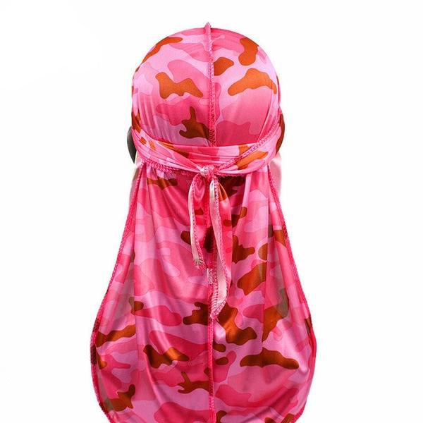 Silk Pink Camo Durag - Taelor Boutique