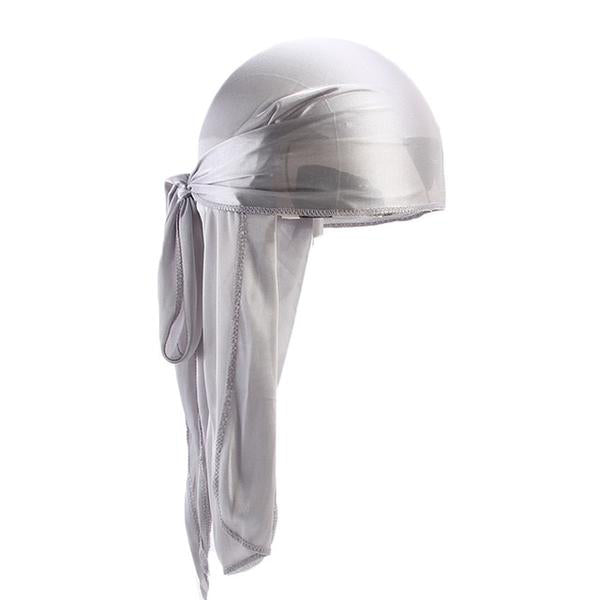 Silver Silk Durag - Taelor Boutique