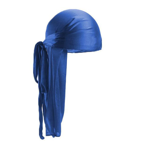 Blue Silk Durag - Taelor Boutique