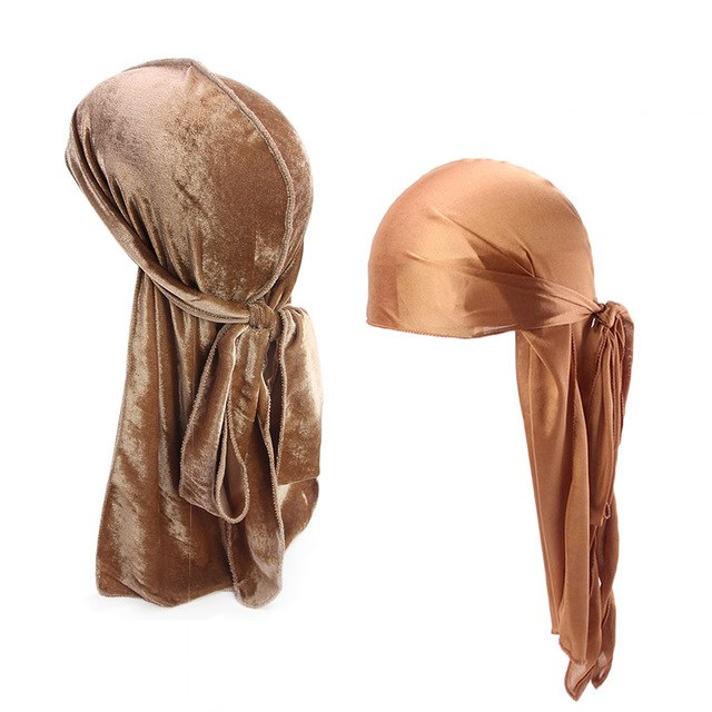 Khaki Velvet & Silk Durag Set - Taelor Boutique