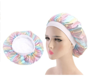 Multicolour #3 Shiny Silk Bonnet - Taelor Boutique