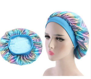 Multicolour #2 Shiny Silk Bonnet - Taelor Boutique