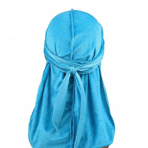 Sky Blue Velvet Durag - Taelor Boutique