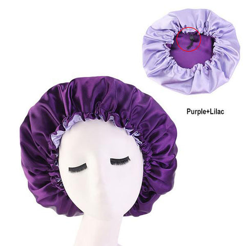 Purple Silk Reversible Bonnet - Taelor Boutique