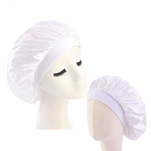 White Mother and Daughter Silk Bonnet Set - Taelor Boutique
