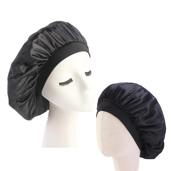 Black Mother and Daughter Silk Bonnet Set - Taelor Boutique