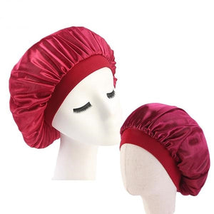 Red Mother and Daughter Silk Bonnet Set - Taelor Boutique
