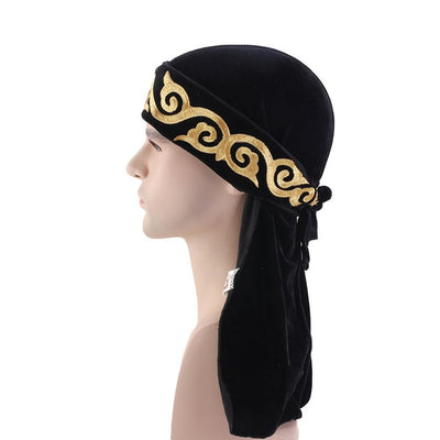 Black Flame Velvet Durag - Taelor Boutique