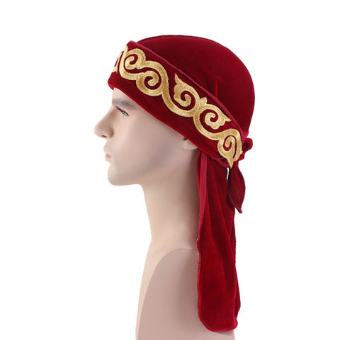 Red Flame Velvet Durag - Taelor Boutique